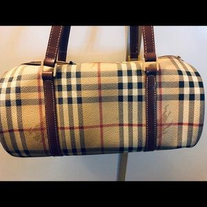 Burberry London bucket roll hand bag authentic